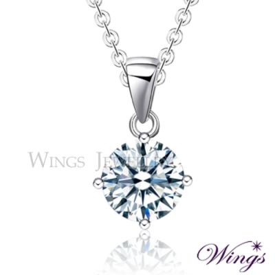 Wings 璀璨寶石 經典四爪鑲1.5克拉單顆鋯石項鍊