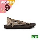SANUK 女款US9 動物紋綁帶涼鞋(豹紋)