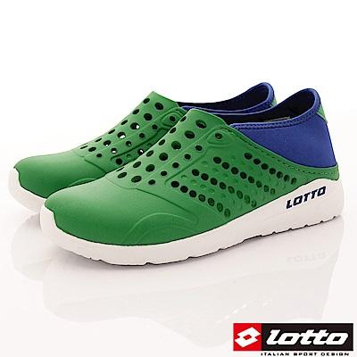Lotto樂得-潮流洞洞鞋-SI755綠(男段)