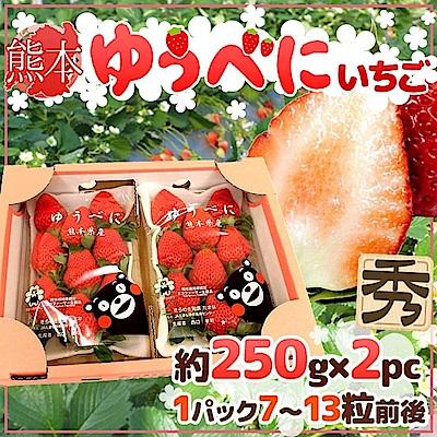 【天天果園】日本熊本/奈良草莓原裝(每盒7~13顆/共約250g) x2盒