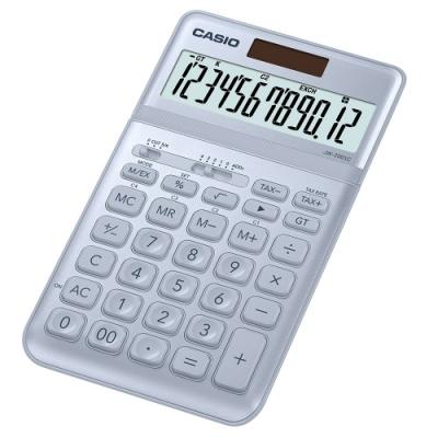 CASIO 12位元時尚霧面系列桌上型計算機(JW-200SC-BU)-蒼藍灰
