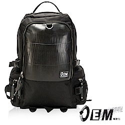 OEM- 製包工藝革命 綠色潮流 大容量後背包-黑色
