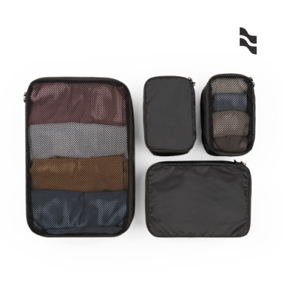 LOJEL Packing Kit 收納袋 4件組 黑色