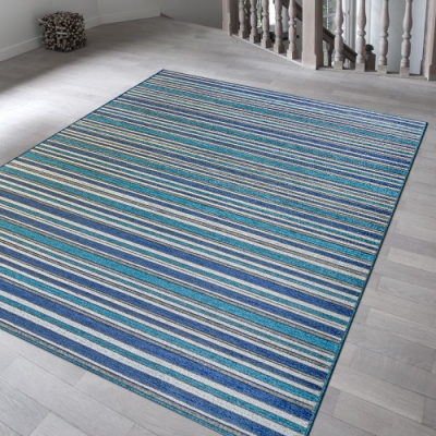 Ambience 比利時Brighton 平織地毯(深藍 160x230cm)