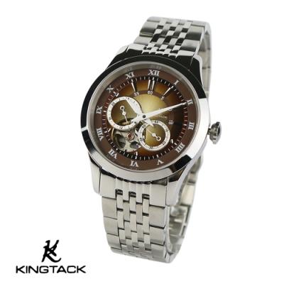KINGTAGK 時尚鏤空羅馬中性機械錶38mm銀