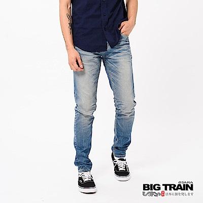 BIG TRAIN COOLMAX丹寧水洗窄直筒褲-男-淺藍