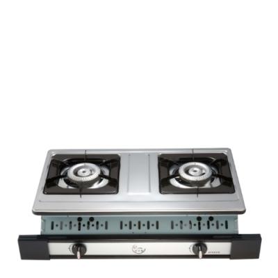 (全省安裝)喜特麗雙口嵌入爐白鐵瓦斯爐桶裝瓦斯JT-GU210S_LPG