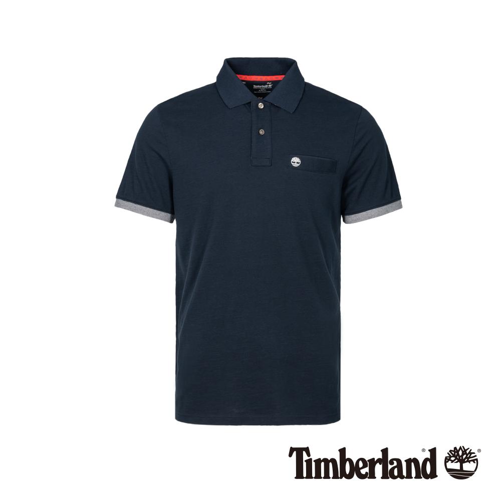 Timberland 男款深寶石藍防紫外線短袖POLO衫|A1XD3
