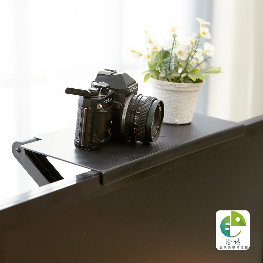 澄境 專利型可調式螢幕上方置物收納架(2入)