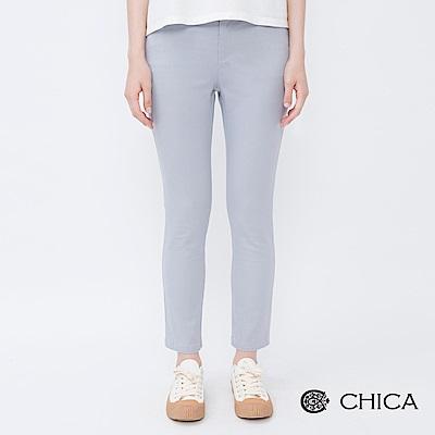 CHICA 自信氣息九分修身純色直筒褲(2色)