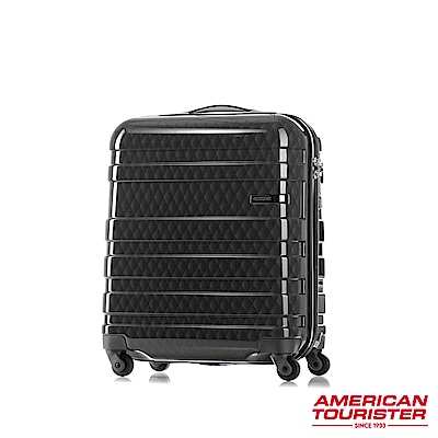 AT美國旅行者 18吋HS MV+ Deluxe時尚硬殼飛機輪TSA登機箱(幾何黑)