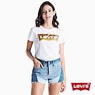 Levis 女款 短袖T恤 翻玩夏日Logo T 金蔥亮面拼接