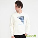 bossini男裝-圖案圓領厚棉T恤04奶白