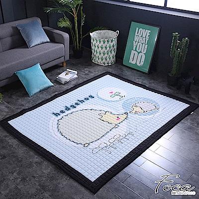 FOCA淘氣刺蝟  北歐簡約-100%棉感透氣多功能地墊-韓國設計(遊戲墊/床鋪墊)