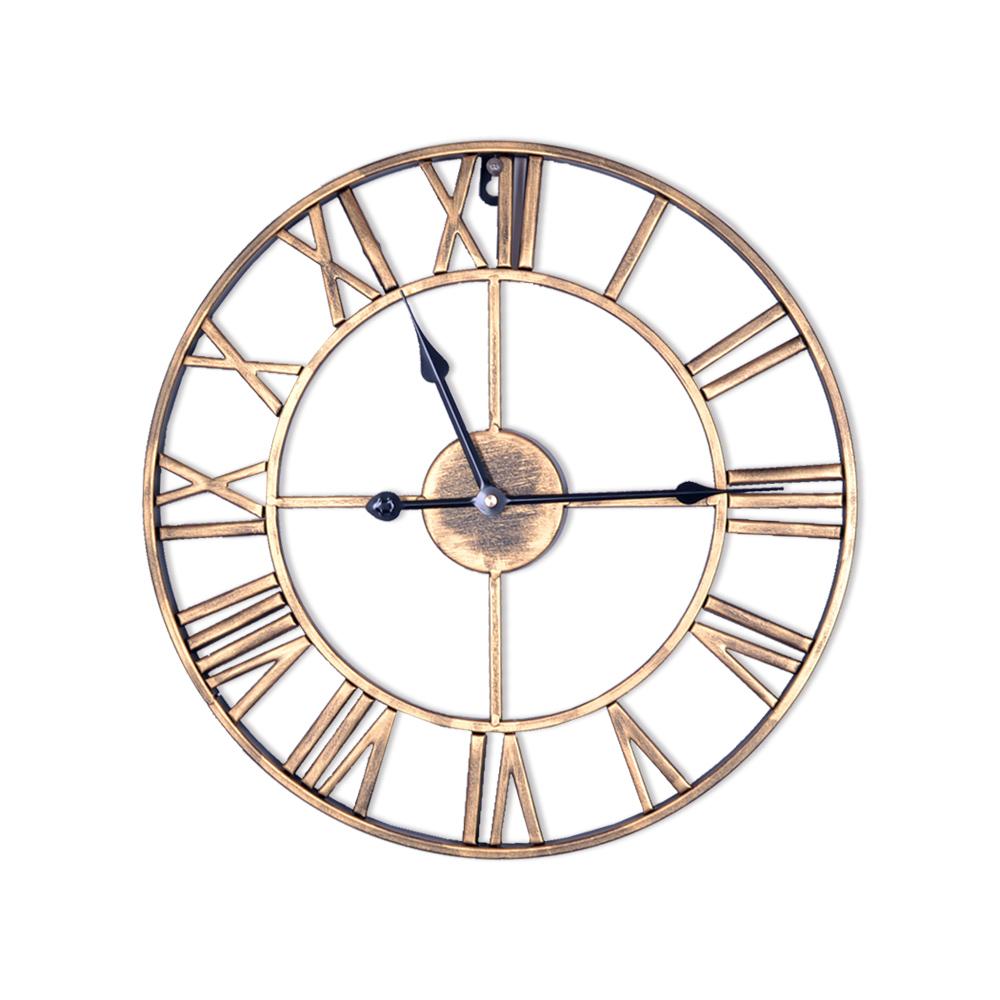 WASHAMl-北歐創意造型掛鐘(工業金色)