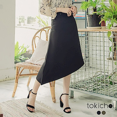 東京著衣-簡約優雅不規則長裙-S.M.L-(共二色)