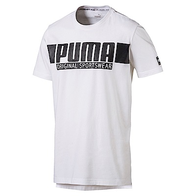 PUMA-男性基本系列STYLE運動風短袖T恤-白色-亞規