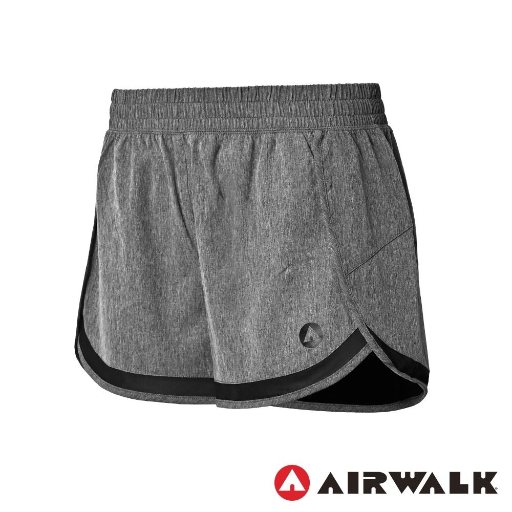 【AIRWALK】平織運動短褲-女-灰
