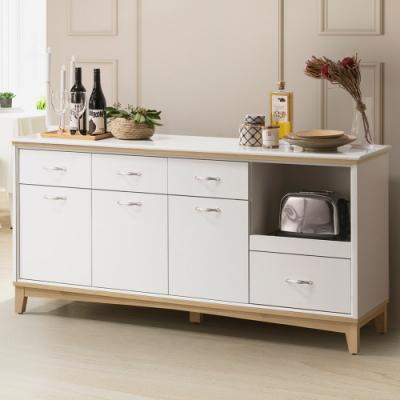 Homelike 桔雅5.3尺石面餐櫃-160 x 41 x 78 公分