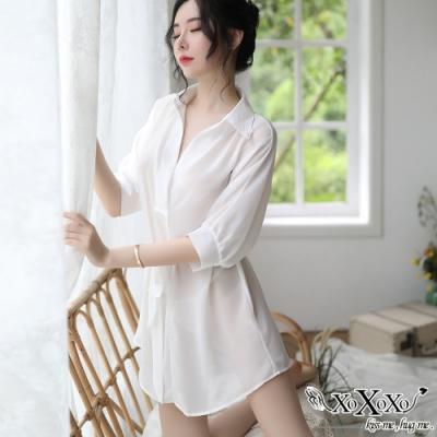 罩衫 輕盈時光兩件式睡衣組 純潔白 XOXOXO