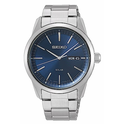 SEIKO精工 質感簡約太陽能時尚腕錶V158-0BE0B/SNE525P1