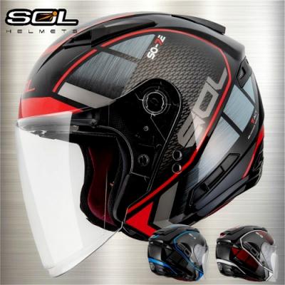 【SOL】SO-7E 幻影系列 安全帽│加長型鏡片│內藏墨鏡│鴨尾導流翼設計