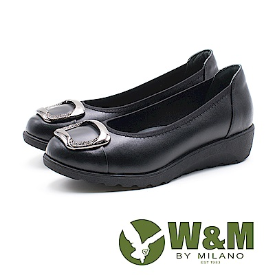 W&M 方扣厚底娃娃鞋 女鞋-黑(另有藍)