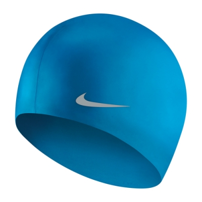 NIKE 兒童 矽膠泳帽 藍 TESS0106-458 (男女童泳帽)