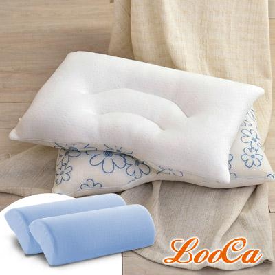 (買二送二)LooCa 舒鼾花漾透氣兩用乳膠枕2入