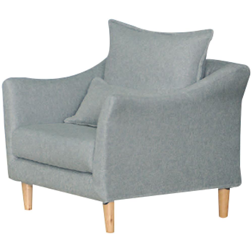 綠活居 沐恩時尚灰亞麻布單人座沙發椅-80x85x79cm免組