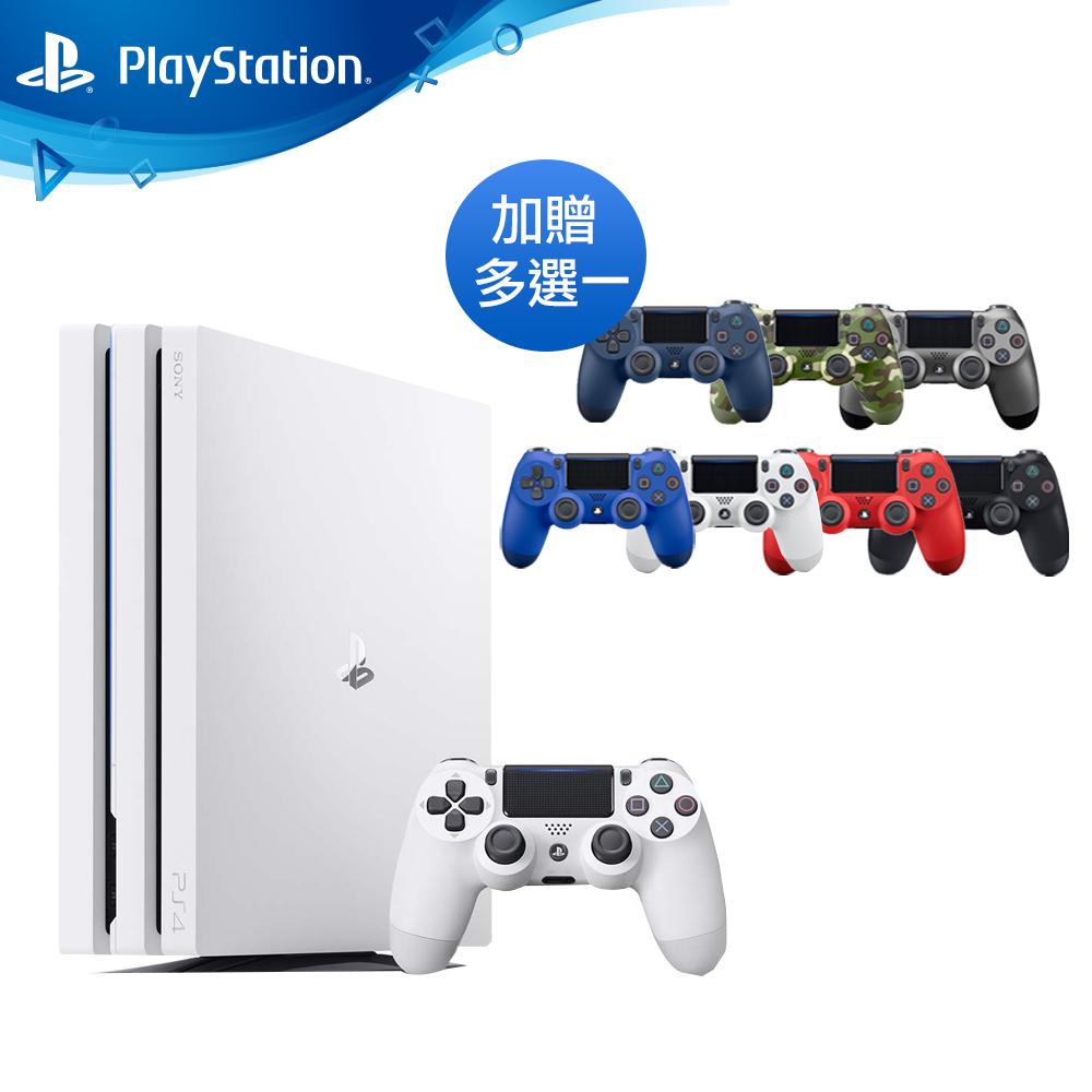 (限定組合)PS4 Pro 1TB主機 台灣公司貨 (白色)