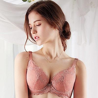 EASY SHOP-擁抱浪漫 美背款A-D罩成套內衣(清新粉)