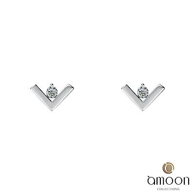 amoon 浪漫艾菲爾系列 美夢成真 9K金鑽石耳環