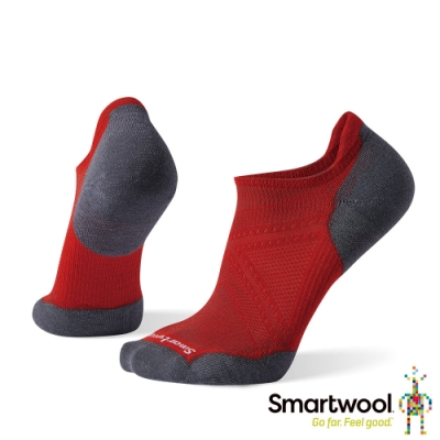SmartWool PhD跑步輕量菁英減震型踝襪 沙漠風采橘