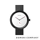 DOMENI COMPANY 經典系列 316L不鏽鋼單眼錶 黑色錶帶 -白/40mm