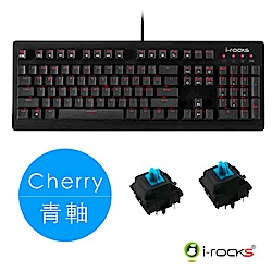 i-Rocks IRK65MS單色背光機械式鍵盤-德國Cherry青軸(單)