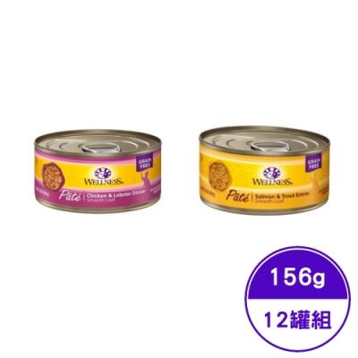 WELLNESS寵物健康-全方位美味肉醬貓主食罐系列 5.5OZ(156g) (12罐組)