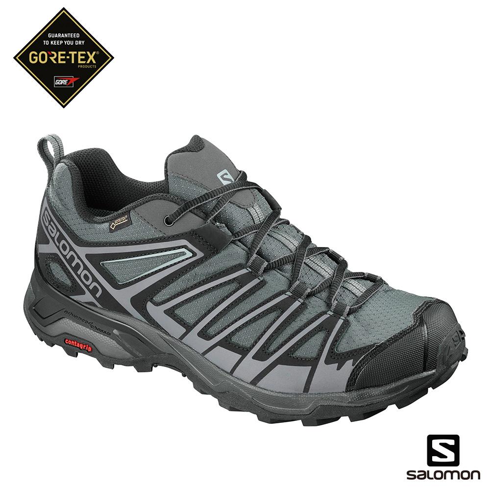 Salomon GORETEX低筒登山鞋 男X ULTRA 3 PRIME黑