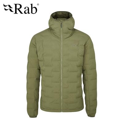 【RAB】Cubit Stretch Down Hoody 保暖羽絨連帽外套 男款 綠泥石 #QDB30