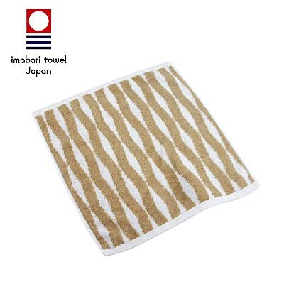 日本今治 純天然有機棉無染色方巾(海波紋-秋香綠)