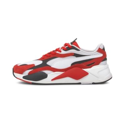 PUMA-RS-X³ SUPER 男性復古運動鞋-白色/賽車紅