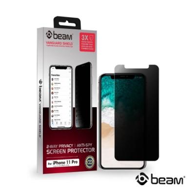 【BEAM】 iPhone 11 Pro/X/Xs 雙向防窺耐衝擊鋼化玻璃保護貼