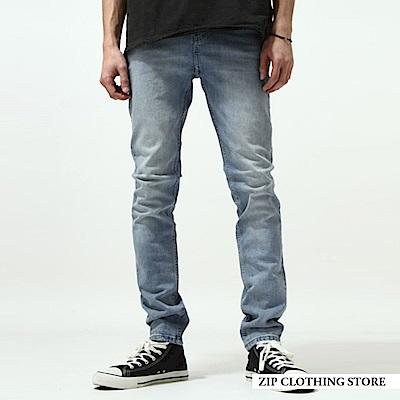 原色牛仔褲窄管褲(1色) ZIP日本男裝