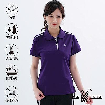 【遊遍天下】MIT女款抗UV吸濕排汗機能POLO衫GS10033深紫