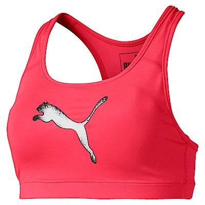 PUMA-女性訓練系列跳豹中衝擊運動內衣-警示粉-歐規
