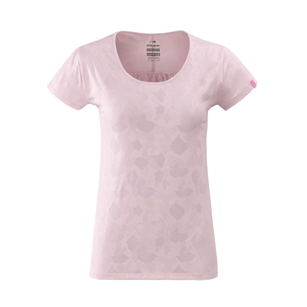 法國【EiDER】女排汗印花短袖圓領衫 / 9EIV4699-玫瑰粉