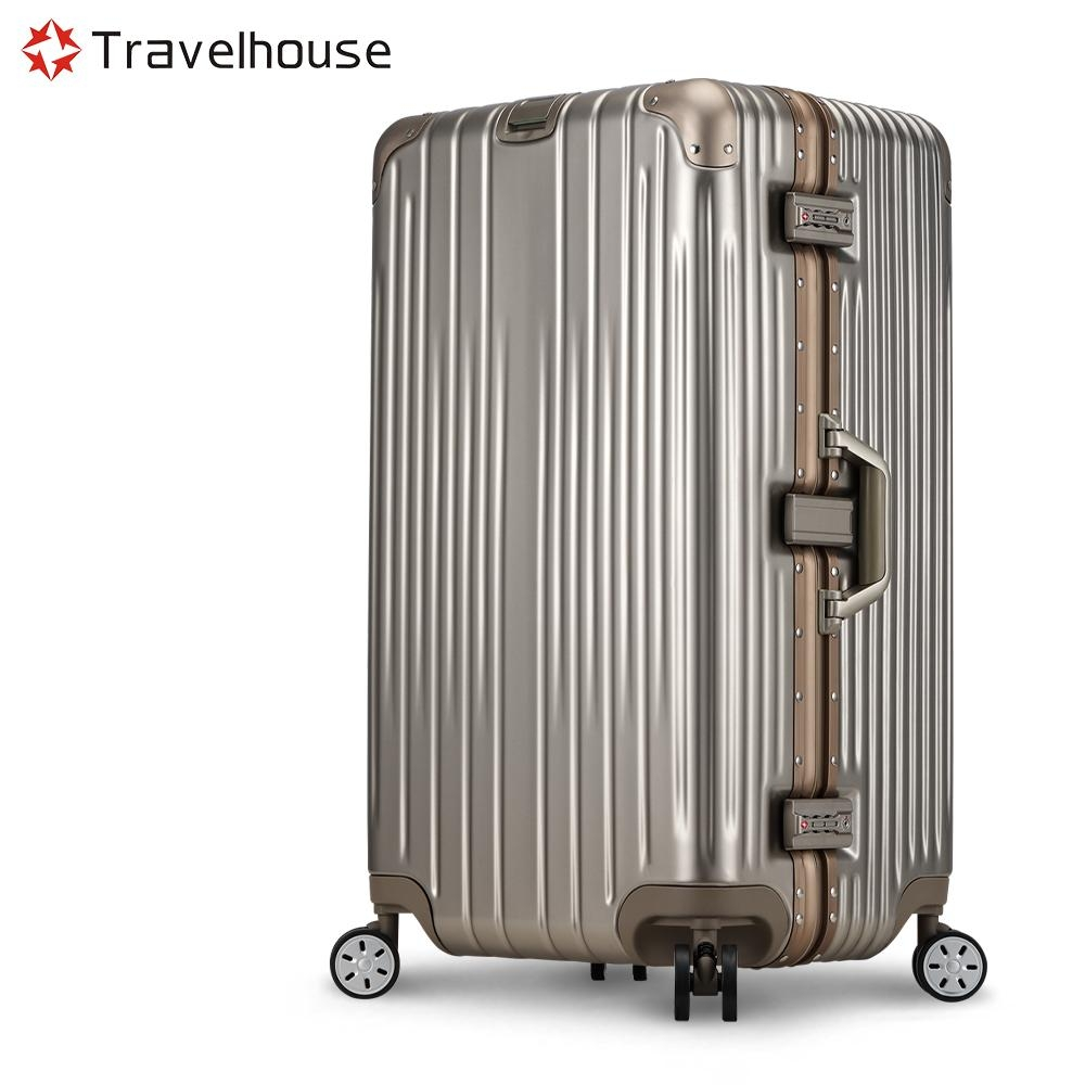 Travelhouse 尊爵典藏II 29吋運動款鋁框行李箱(香檳金)
