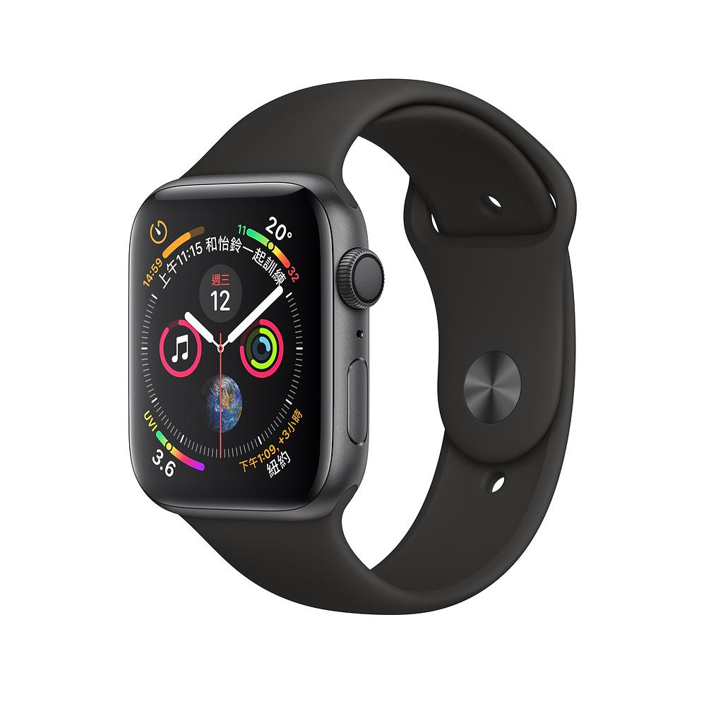 Apple Watch Series 4 GPS 40mm太空灰鋁金屬錶殼黑色運動型錶帶