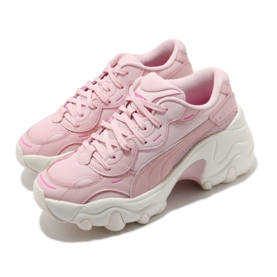Puma 休閒鞋 Pulsar Wedge Tonal 女鞋 大波浪厚底 舒適 增高 球鞋 穿搭 粉 米白 37482201
