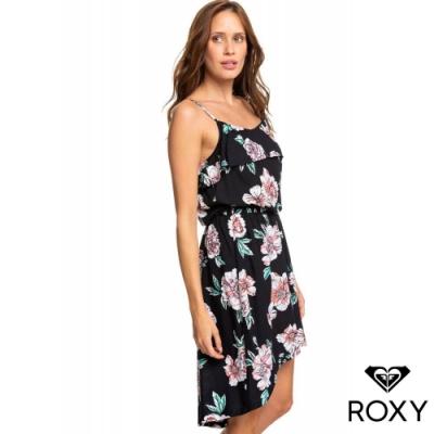 【ROXY】 AMALFI LIFESTYLE DRESS PRINTED洋裝 黑
